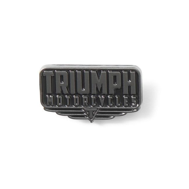 <big><b>TRIUMPH BLACK PIN BADGE</b></big>